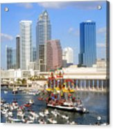 Tampa's Flag Ship Acrylic Print by David Lee Thompson
