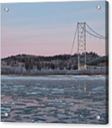 Tanana River With Pipeline - Early Morning Acrylic Print