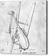Tandem Biplane Patent Acrylic Print