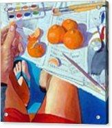 Tangerine Break Acrylic Print