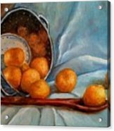 Tangerine Family Portrait Acrylic Print by Terrye Philley