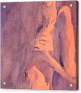 Tangerine Nude Acrylic Print