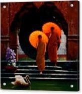 Tangerine Parasols Acrylic Print