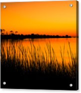 Tangerine Sunset Acrylic Print