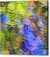 Tangerine Twist Mosaic Abstract Art Acrylic Print