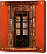 Tangerine Window Acrylic Print