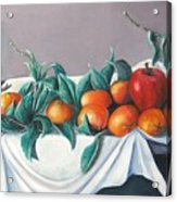 Tangerines And Apples Acrylic Print by Eileen Kasprick