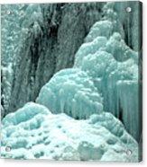Tangle Falls Frozen Blue Cascades Acrylic Print