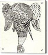 Tangled Elephant Acrylic Print by Ekta Gupta