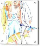 Tango Nuevo - Gancho Step - Dancing Illustration Acrylic Print