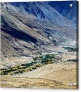 Tangsey Village Landscape Of Leh Ladakh Jammu And Kashmir India Acrylic Print