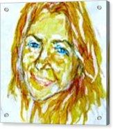 Tania Helft, Portrait Acrylic Print