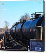 Tanker Cars Pulled By Csx Engines Acrylic Print