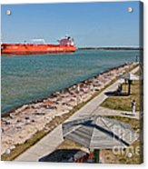 Tanker Transporting Crude Oil Acrylic Print