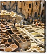 Tanneries Of Fes Morroco Acrylic Print