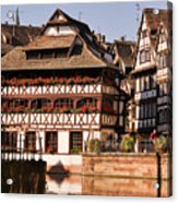 Tanners House Strasbourg Acrylic Print by Louise Heusinkveld