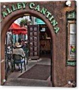 Taos Alley Cantina Acrylic Print