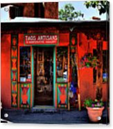 Taos Artisans Gallery Acrylic Print by David Patterson