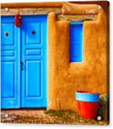 Taos Doorway Acrylic Print