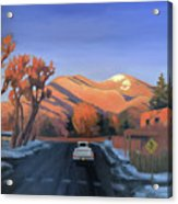 Taos In The Golden Hour Acrylic Print