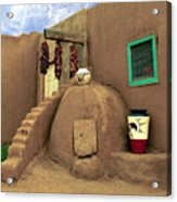 Taos Oven Acrylic Print by Jerry McElroy