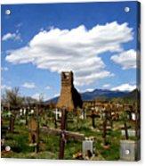 Taos Pueblo Cemetery Acrylic Print
