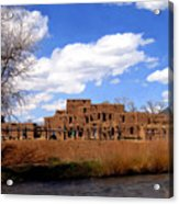 Taos Pueblo Early Spring Acrylic Print