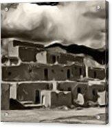 Taos Pueblo Acrylic Print