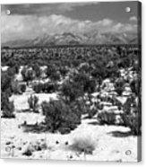 Taos Snowfall Acrylic Print by Susan Chandler