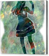 Tap Dancer 1 - Green Acrylic Print