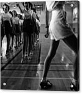 Tap Dancing Class In The Gymnasium Acrylic Print by Everett