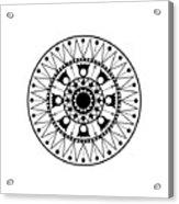 Tapiz Black And White Acrylic Print