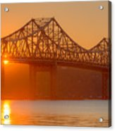 Tappan Zee Bridge At Sunset I Acrylic Print
