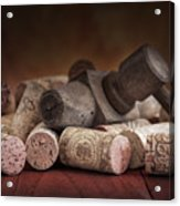 Tapped Out - Wine Tap With Corks Acrylic Print