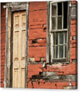 Tar-paper House Door And Window Acrylic Print