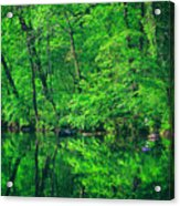 Tar River Reflection Acrylic Print