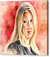Tara Summers In Boston Legal Acrylic Print