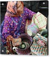 Tarahumara Basket Vendor Acrylic Print