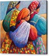Tarahumara Women Acrylic Print by Candy Mayer