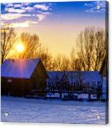 Tarchomin Sunset Acrylic Print by Tomasz Dziubinski