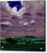 Tarkio Moon Acrylic Print by Steve Karol