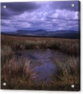 Tarn On The Slopes Of Whernside With Pen-y-ghent On The Horizon Yorkshire Dales England Acrylic Print