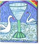 Tarot Of The Younger Self Ace Of Cups Acrylic Print