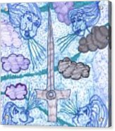 Tarot Of The Younger Self Ace Of Swords Acrylic Print
