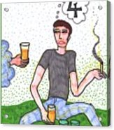 Tarot Of The Younger Self Four Of Cups Acrylic Print