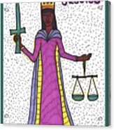 Tarot Of The Younger Self Justice Acrylic Print