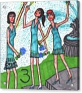 Tarot Of The Younger Self Three Of Cups Acrylic Print