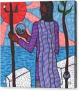 Tarot Of The Younger Self Two Of Wands Acrylic Print