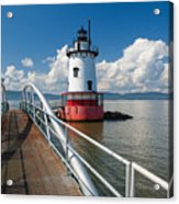 Tarrytown Lighthouse Hudson River New York Acrylic Print by George Oze