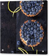 Tartlets With Blueberries Acrylic Print